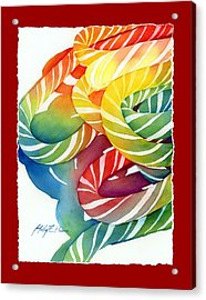 Candy Canes Acrylic Print by Hailey E Herrera