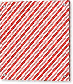 Candy Canes Stripes- Art By Linda Woods Acrylic Print