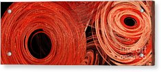 Acrylic Print featuring the digital art Candy Chaos 1 Abstract by Andee Design