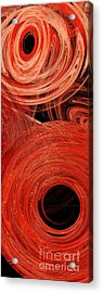 Acrylic Print featuring the digital art Candy Chaos 2 Abstract by Andee Design