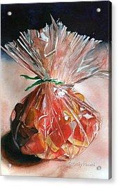 Candy Corn Acrylic Print by Kathy Nesseth
