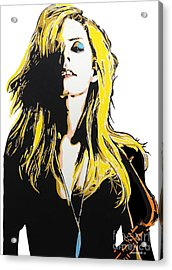 Candy Dulfer Acrylic Print by Nancy Mergybrower