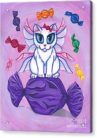 Candy Fairy Cat, Hard Candy Acrylic Print