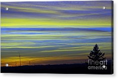 Acrylic Print featuring the photograph Candy Sky 1 by Victor K