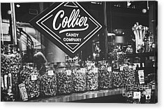 Candy Store- Ponce City Market - Black And White Acrylic Print