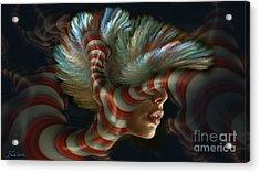 Candy Striper Acrylic Print