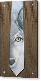 Canis Lupis Acrylic Print by David Kelly