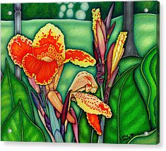 Canna Lilies In Bloom Acrylic Print