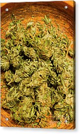 Cannabis Bowl Acrylic Print by Jorgo Photography - Wall Art Gallery