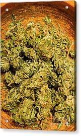 Cannabis Bowl Acrylic Print