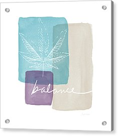 Acrylic Print featuring the mixed media Cannabis Leaf Watercolor 3- Art By Linda Woods by Linda Woods