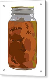 Canned Peaches Acrylic Print by Robert Bissett