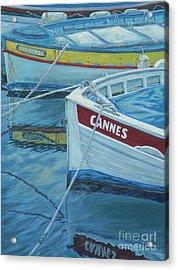 Cannes Boats Acrylic Print