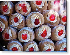 Acrylic Print featuring the photograph Cannoli by Harry Spitz