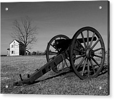 Cannon And The Henry House I Acrylic Print by Steven Ainsworth