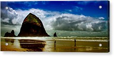 Cannon Beach At Dusk IIi Acrylic Print by David Patterson