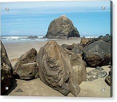 Cannon Beach Boulders Acrylic Print
