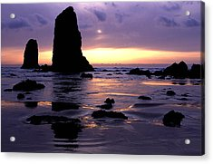 Cannon Beach Acrylic Print by Eric Foltz