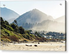 Cannon Beach Oceanfront Vacation Homes Acrylic Print