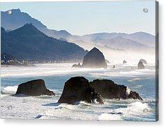 Cannon Beach On The Oregon Coast Acrylic Print
