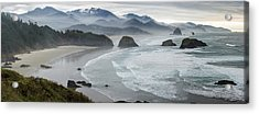 Cannon Beach Oregon Pano Acrylic Print