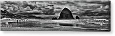 Cannon Beach Panorama II Acrylic Print by David Patterson