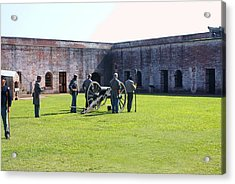 Cannon Excercise Acrylic Print by Rodger Whitney