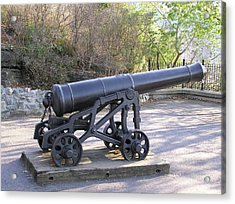 Cannon Acrylic Print by Richard Mitchell