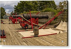 Cannons Of Ft Mchenry Acrylic Print