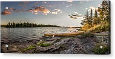 Canoe // Bwca, Minnesota  Acrylic Print by Nicholas Parker