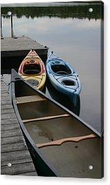 Canoe Acrylic Print by Dennis Curry