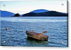 Canoe Acrylic Print by Martin Cline