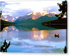 Canoe On Malign Lake Acrylic Print