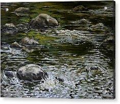 Canoe Painting 4 Acrylic Print