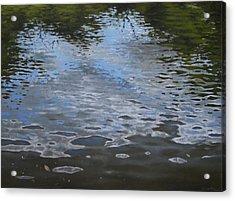 Canoe Painting 9 Acrylic Print