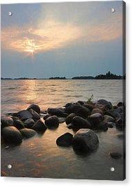 Canoe Point Sunset Acrylic Print by Lori Deiter