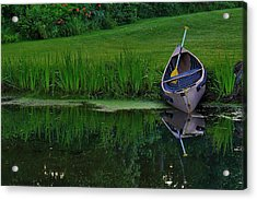 Canoe Reflection Acrylic Print