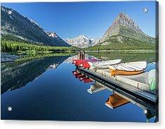 Canoe Reflections Acrylic Print