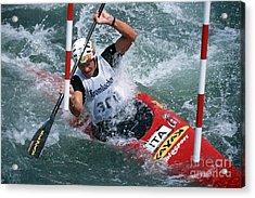 Canoe Slalom 1 Acrylic Print by Rudi Prott
