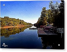 Canoe Stand On The River Acrylic Print