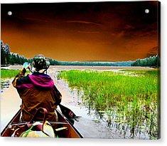 Canoe Trip Acrylic Print by Peter  McIntosh