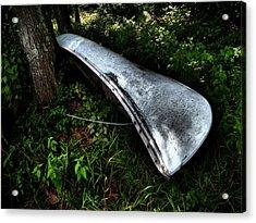 Canoe Acrylic Print by Wayne Higgs