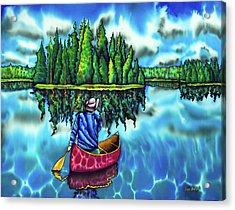 Canoeing Ontario Acrylic Print