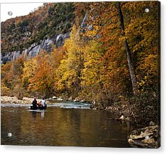 Canoeing The Buffalo River At Steel Creek Acrylic Print