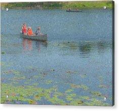 Canoes On Shovelshop Pond Acrylic Print