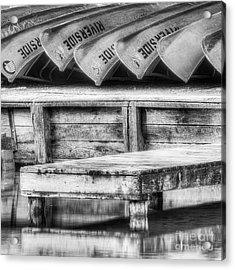 Canoes On The Platte Acrylic Print by Twenty Two North Photography