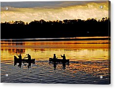 Canoes On The Potomac River Acrylic Print