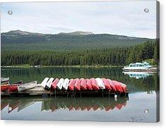 Canoes Acrylic Print