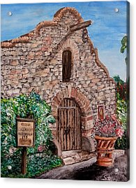 Canoga Mission Gallery Acrylic Print by Irving Starr