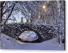 Cannon Hill Park Winter Acrylic Print